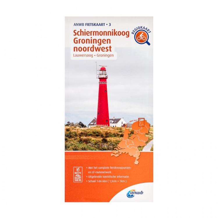 "ANWB fietskaart 3 ""Schiermonnikoog Groningen noordwest"""