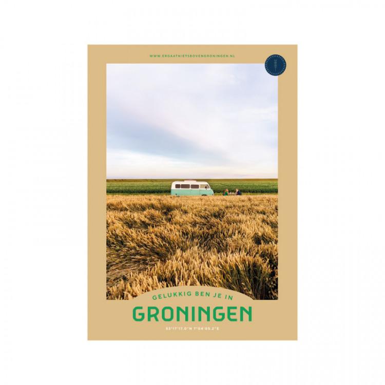 """Poster """"Graan"""" Gelukkig ben je in Groningen"""