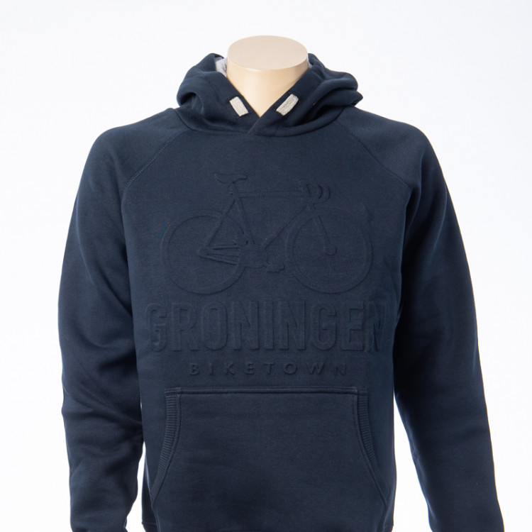 Hooded sweater embossed