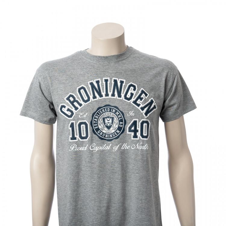 T-shirt Groningen Heather Grey Segel