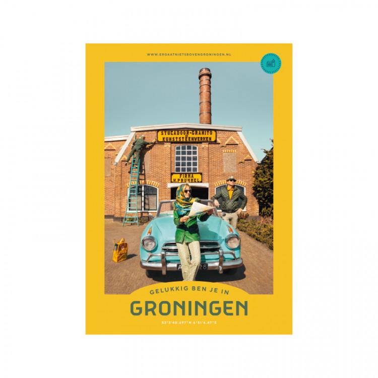 """Poster """"Prummel"""" Gelukkig ben je in Groningen"""