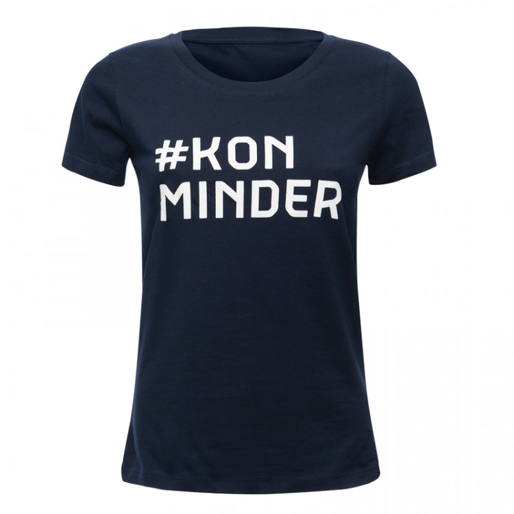 "T-shirt ""#KonMinder"" dames"