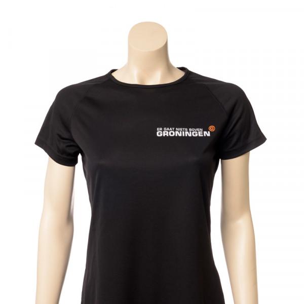"""Hardloopshirt """"Er gaat niets boven Groningen""""Dames"""