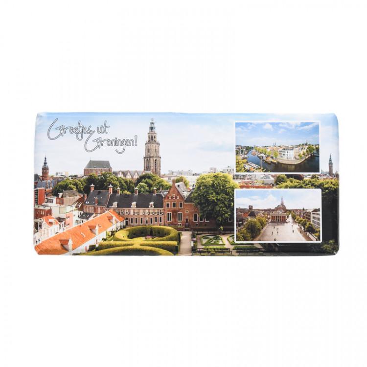 Chocoladetablet stad Groningen
