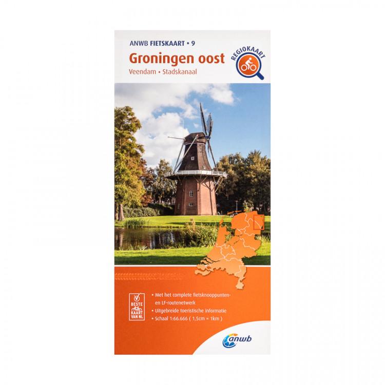 """ANWB fietskaart 9 """"Groningen oost"""""""