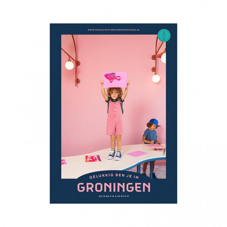 """Poster """"Groninger Museum"""" Gelukkig ben je in Groningen"""
