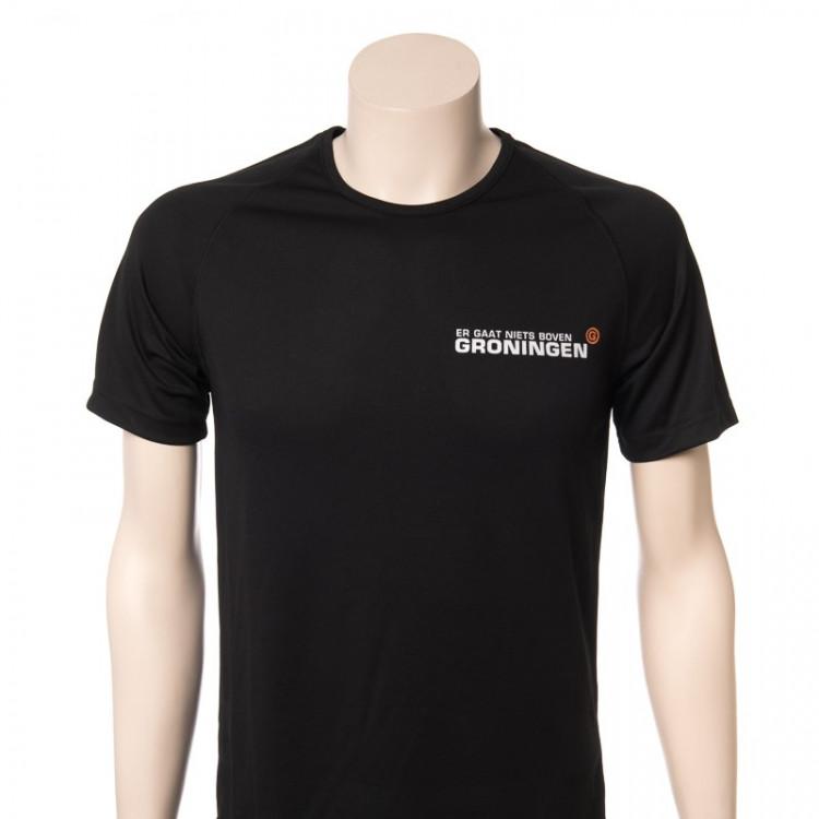 """Hardloopshirt """"Er gaat niets Boven Groningen"""" herenmodel"""