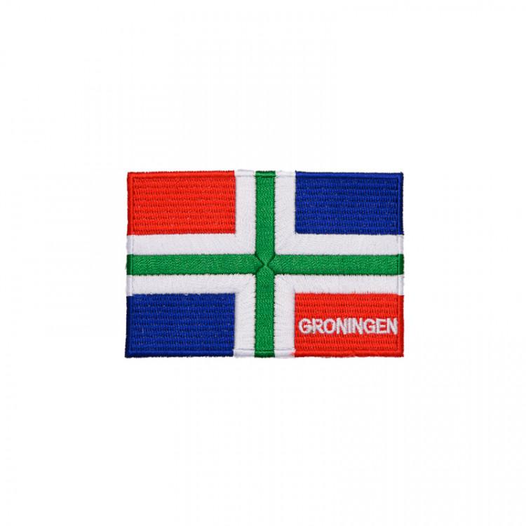 Strijkbadge Groninger Vlag