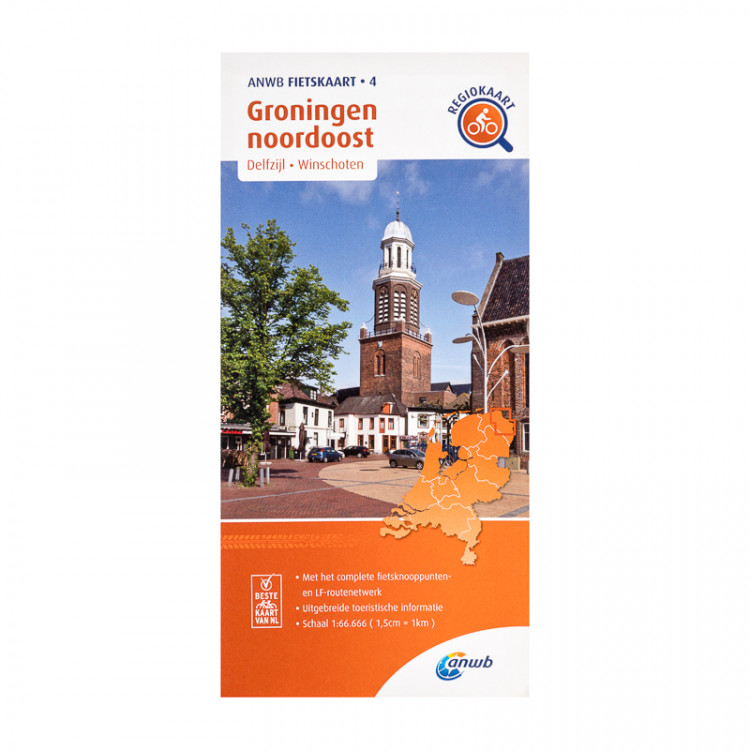 """ANWB fietskaart 4 """"Groningen noordoost"""""""