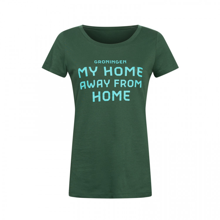 "T-shirt ""My home away from home"" dames"