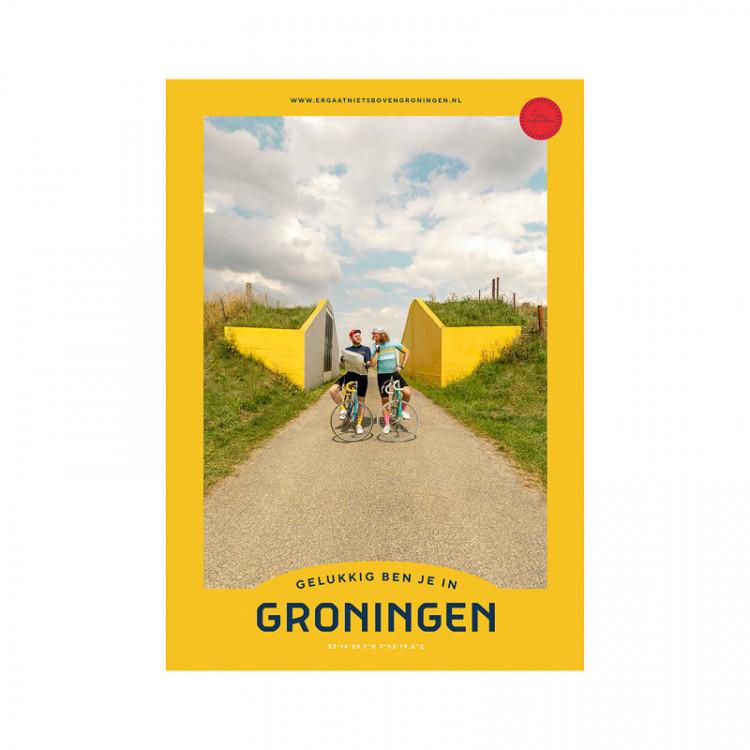 """Poster """"Dijkdoorgang"""" Gelukkig ben je in Groningen"""