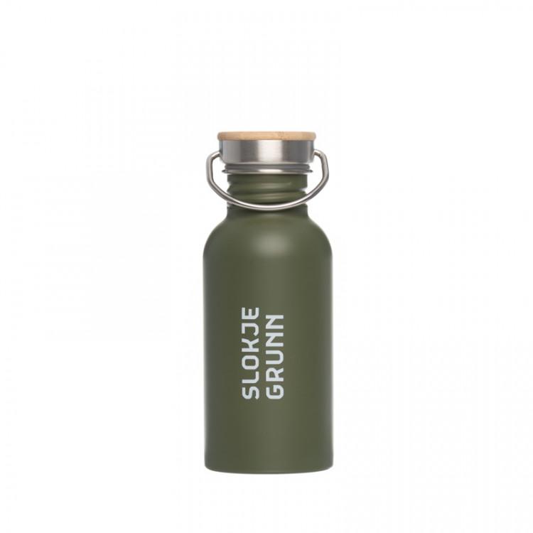 """RVS waterfles """"slokje Grunn"""" 500 ml groen"""