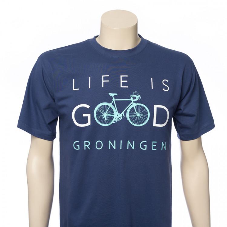 "T-shirt Groningen ""Life is Good"" (Denim)"