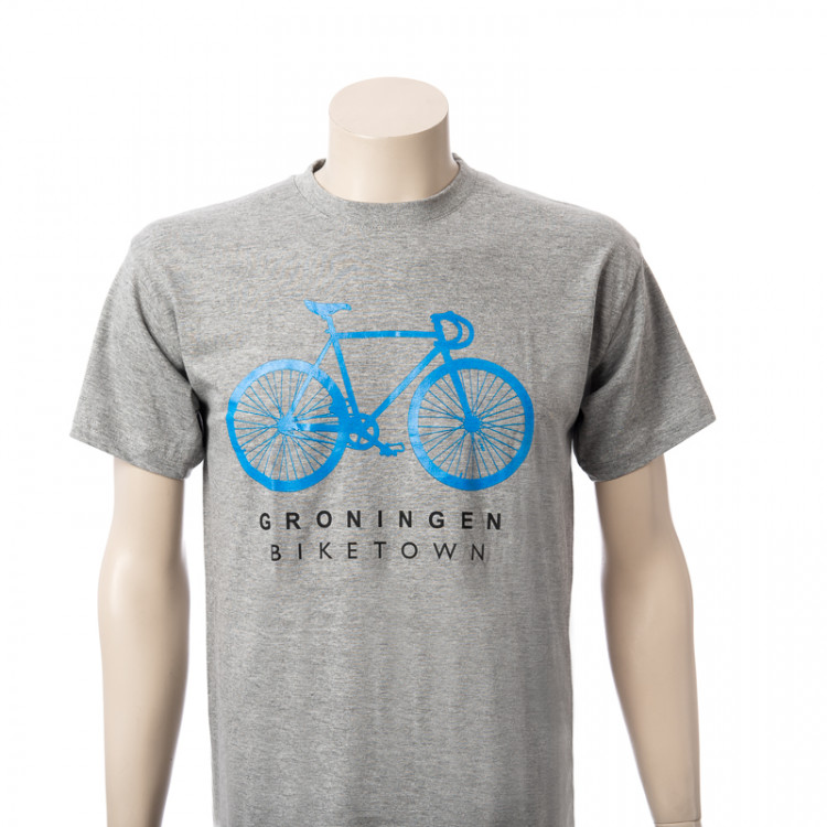 T-shirt Groningen Biketown grijs