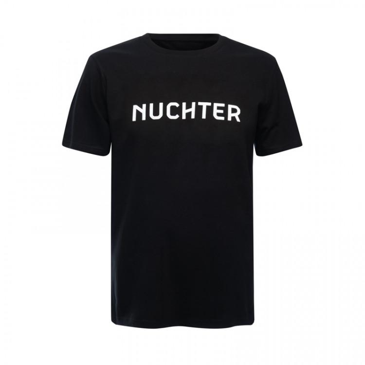 """T-shirt """"Nuchter"""" heren (zwart)"""