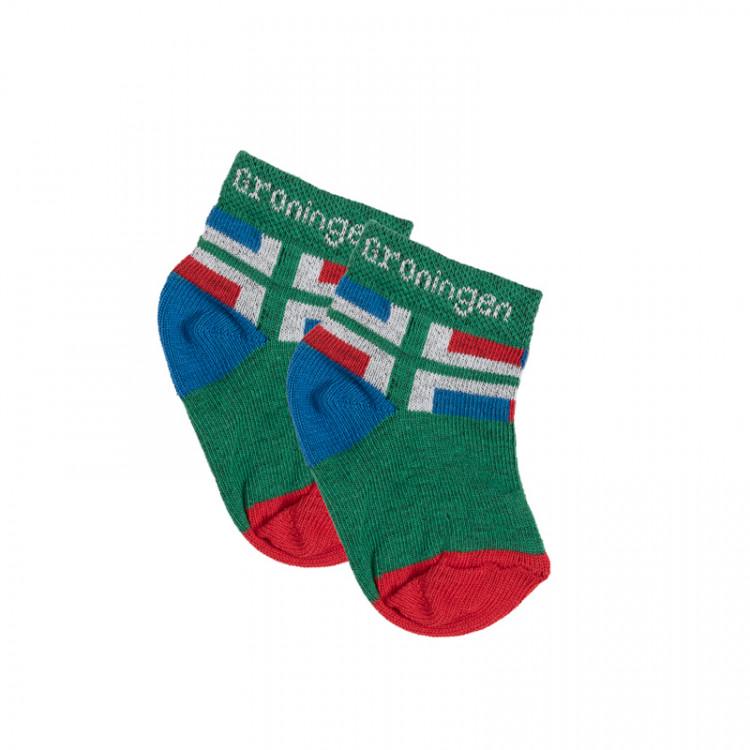 Babysokjes met Groninger vlag (2 paar)