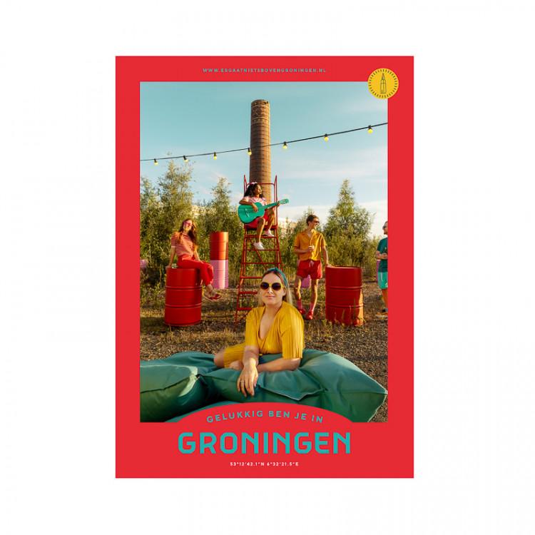 """Poster """"de Suiker"""" Gelukkig ben je in Groningen"""