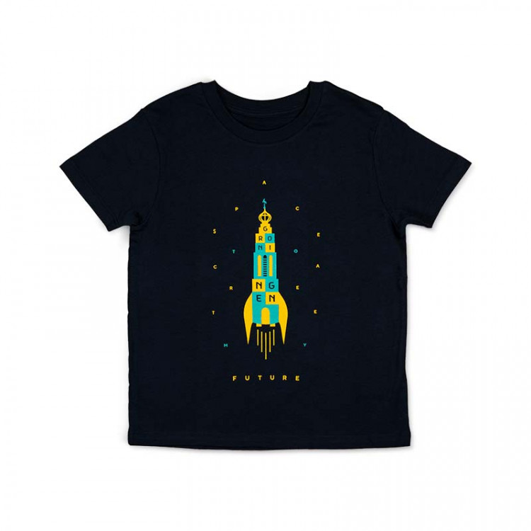 "Kinder T-shirt ""future"" navy"