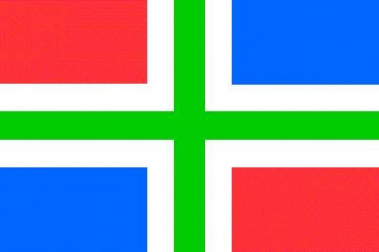 Bootvlag provincie Groningen 20 x 30 cm