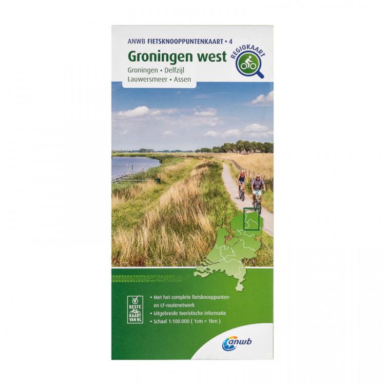 "ANWB fietsknooppuntenkaart 4 ""Groningen West"""