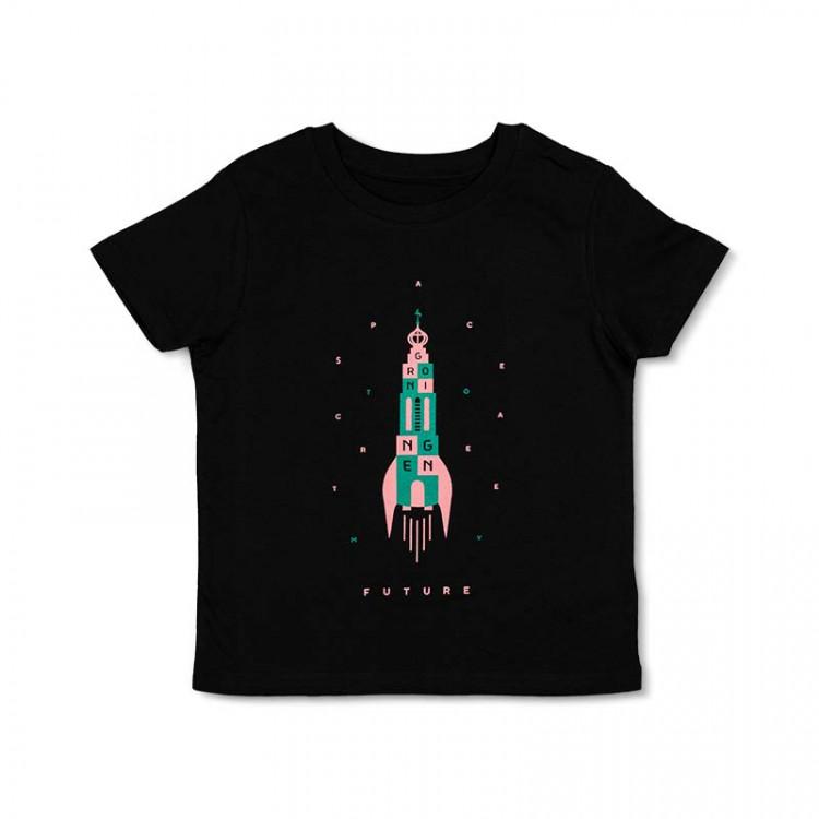 """Kinder T-shirt """"future"""" zwart"""