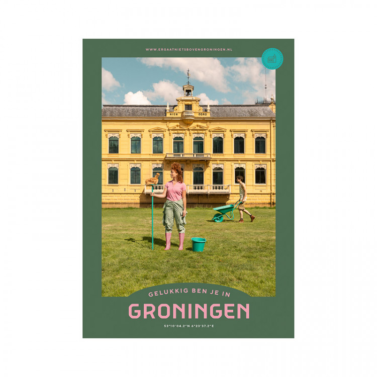 """Poster """"Nienoord"""" Gelukkig ben je in Groningen"""