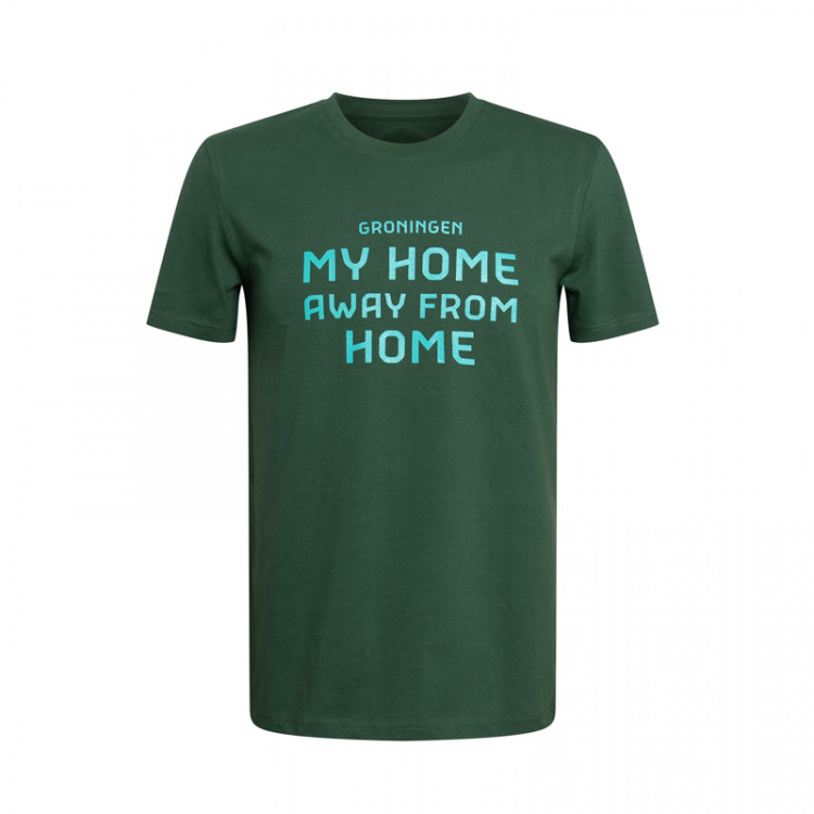 "T-shirt ""My home away from home"" heren"