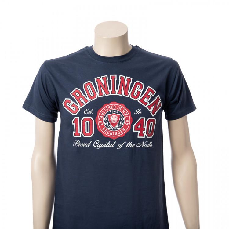 T-shirt Groningen Denim Segel