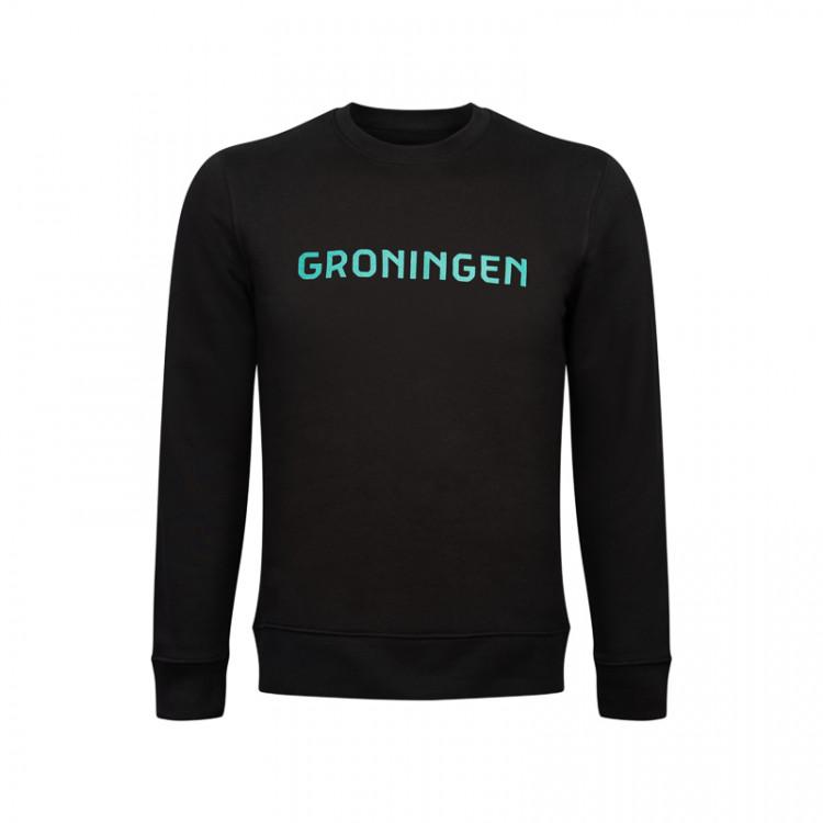 "Sweater ""Groningen"" opdruk blauw"